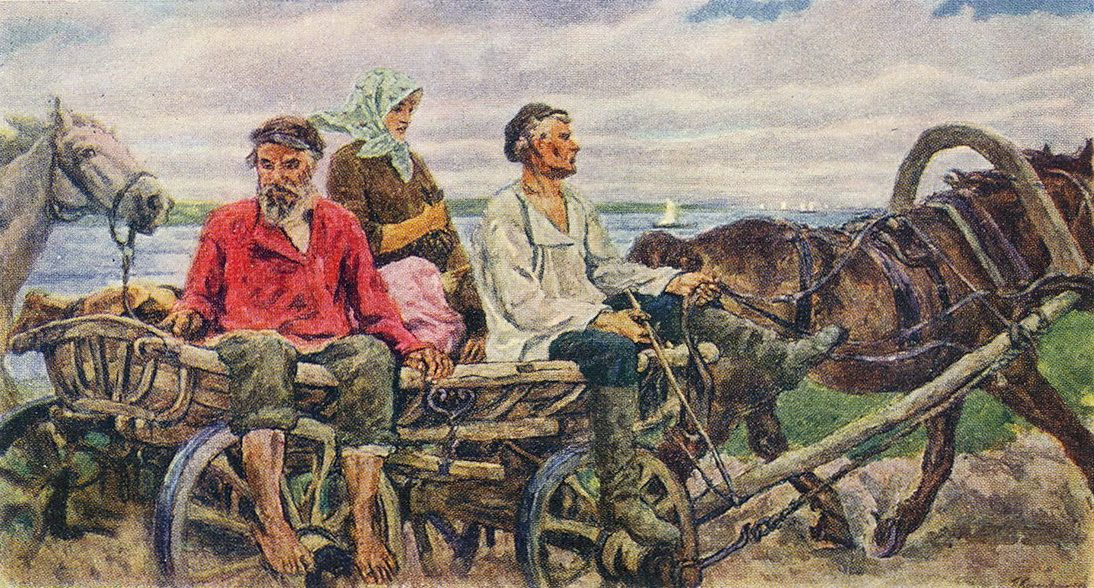 Pyotr Konchalovsky - Novgorod. Return from the Fair