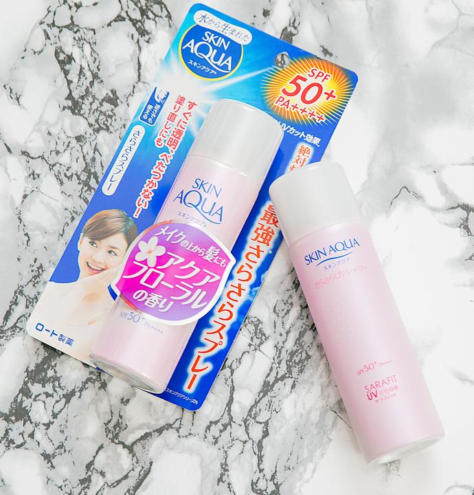 ovrhead photo of Skin Aqua UV Silky Smooth Mist Sunscreen