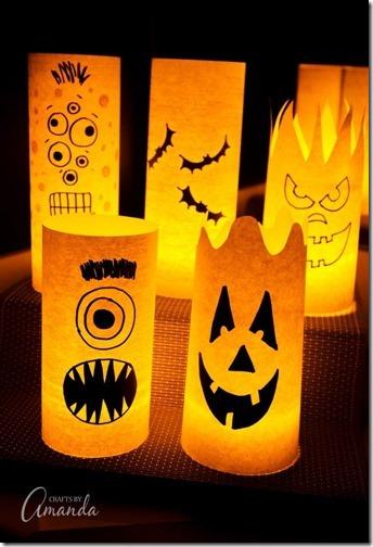 1 monstruos halloween manualdades niños reciclados