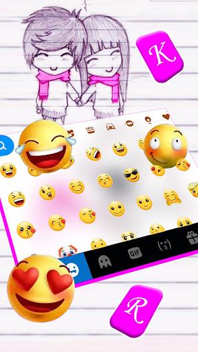 Couple Cute Love Keyboard Theme hack tool