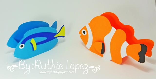 Nemo - Dory - Buscando a Nemo - Buscando a Dory - Finding Dory - Finding Nemo - Ruthie Lopez - My Hobby My Art 7