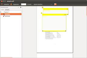 Anotaciones y marcadores en PDF con Evince