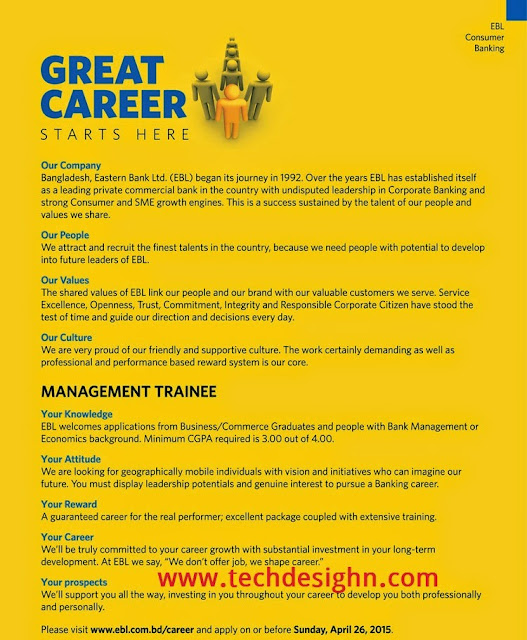 eastern bank ltd management trainee