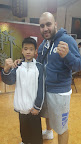 Kamran Khan with one of Sifu Yip Jyu Jeh's students.