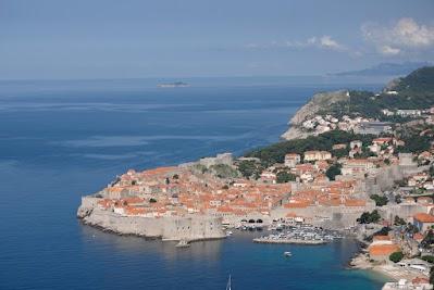Blick von Süden auf Dubrovnik
