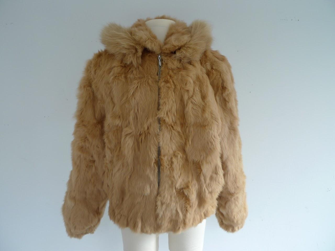DENA NY Rabbit Fur Jacket