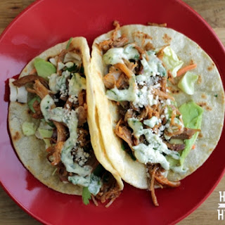 Pulled Pork Tacos with Cilantro Lime Aioli Recipe