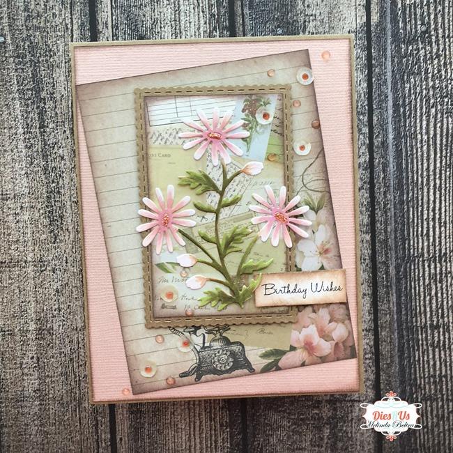 daisy die cut card melinda beltran