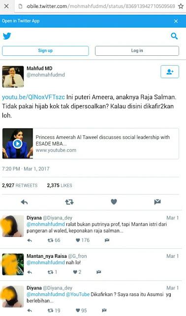 Sekelas Professor Mahfudh MD-pun Tak Malu Jajakan Hoax Fitnah Untuk Menyerang Raja Salman