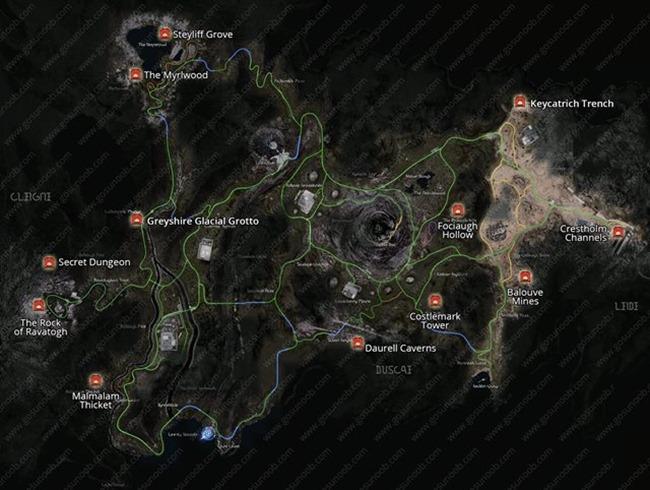 Final Fantasy 15 Königswaffen Karte.Final Fantasy Xv Karte Der Eingänge Der Dungeons Spass Und Spiele