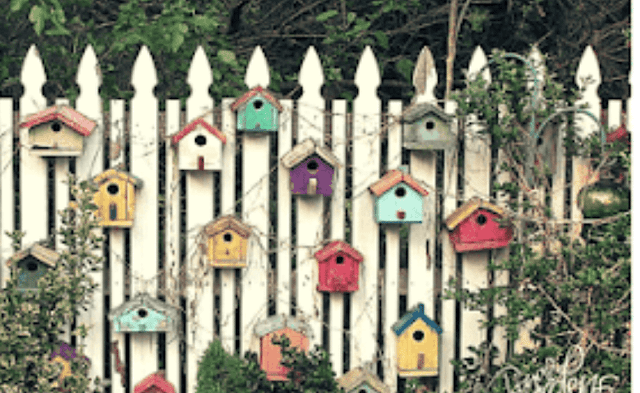 Awesome fence of bird houses