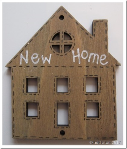 New Home House Shaped Gift Tag