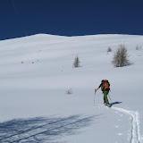 Das Spuren war wegen stollender Felle und Ski diesmal Schwersarbeit.