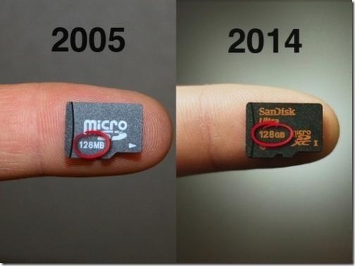 perbandingan memory card dari dahulu hingga sekarang