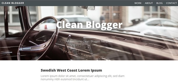 clean-blogger-template