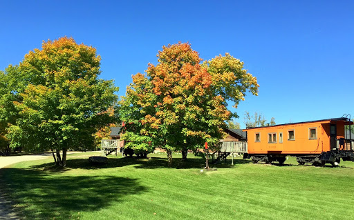 Early fall color in the switchyard
