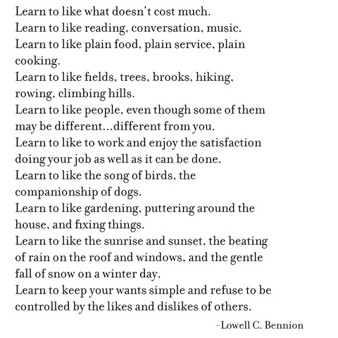 learn to like -- bennion