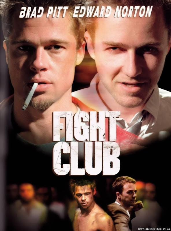 Poster Of Fight Club (1999) Full Movie Hindi Dubbed Free Download Watch Online At Alldownloads4u.Com