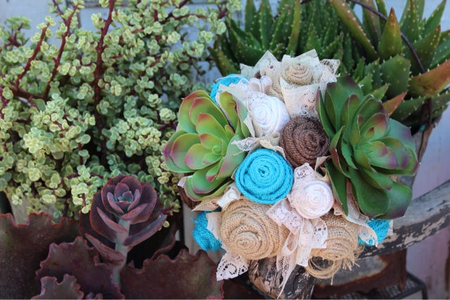Rustic, desert wedding bouquet