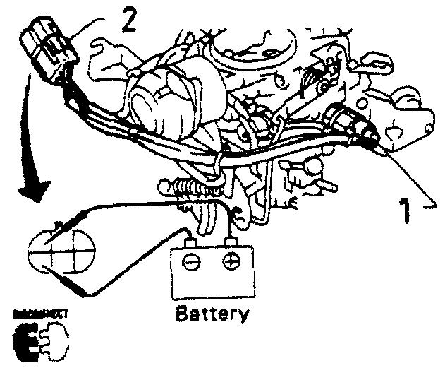 Проверка электромагнитного клапана насоса-скорителя, при помощи подачи напряжения на контакты разъема