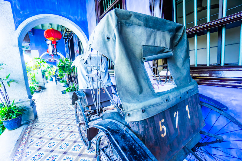 Penang Cheong Fatt Tze Mansion (Blue Mansion) rickshaw10