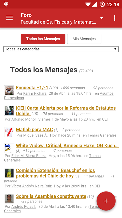 U-Cursos- screenshot