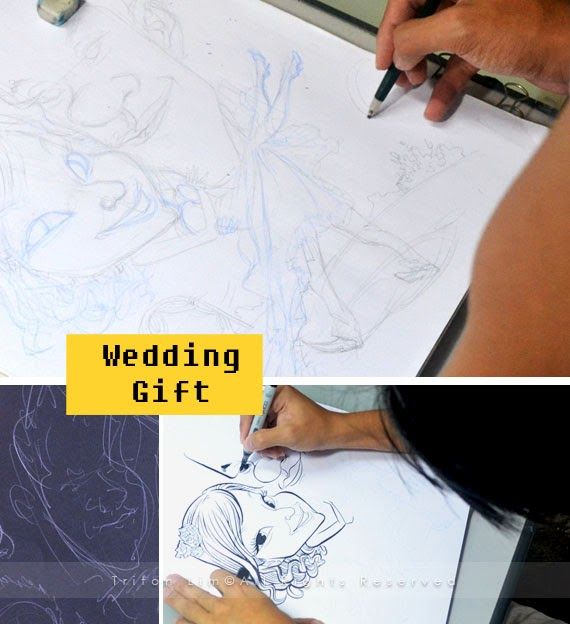 ... Artist Malaysia Triton Lim: Wedding Gift for Port Dickson Couple