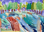 Plein Air Painting by Anastazya