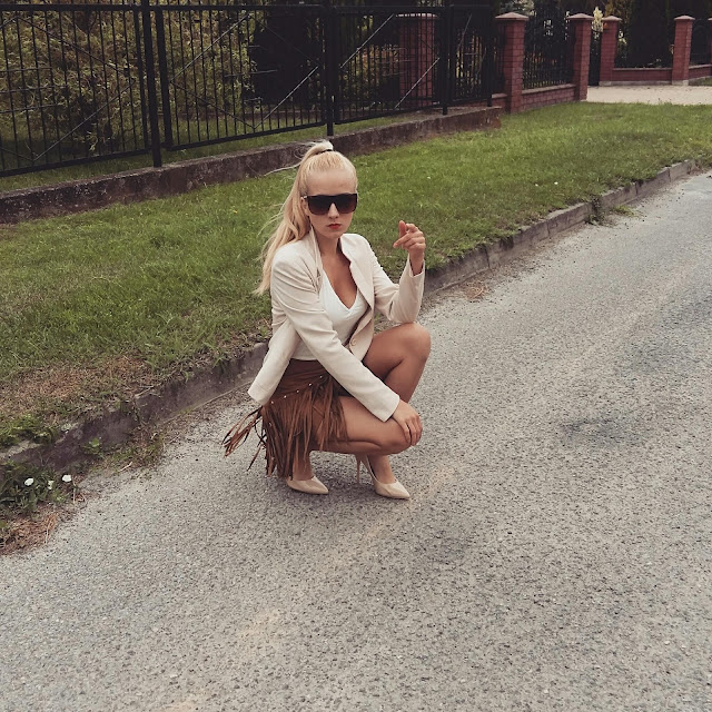 Spódnica z frędzlami- moja stylizacja