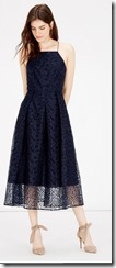 Warehouse Strappy Lace Midi Dress