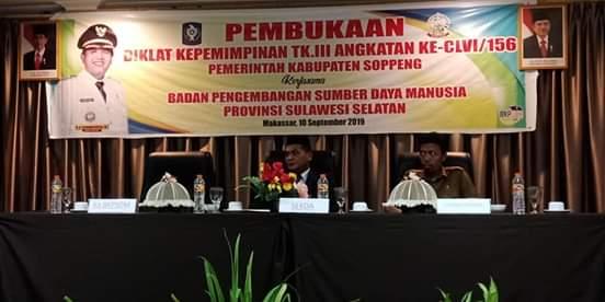 BKPSDM Kabupaten Soppeng Gelar Diklatpim Tingkat III, Ini Kata Sekda Soppeng