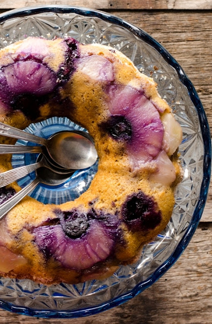 Prajitura cu afine si ananas