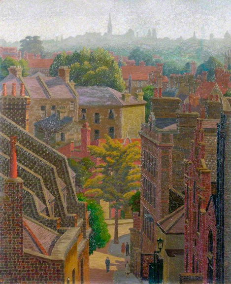 Charles Ginner - View of Hampstead