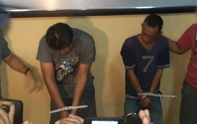 Bawa Hampir Setengah Kilogram Sabu, Dua Pria Ini Ditangkap Polisi
