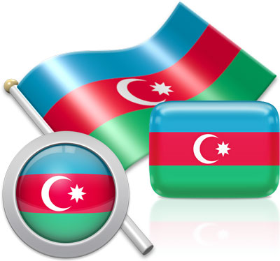 Azerbaijani flag icons pictures collection