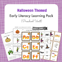 Halloween Themed Early Literacy Preschool Pack
