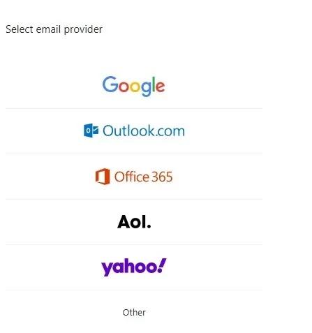 جميع الحسابات البريد الإلكتروني ياهو إضافة مزود البريد الإلكتروني