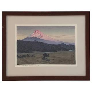 Toshi Yoshida Signed Mt. Fuji From Ohito Wood Block Print