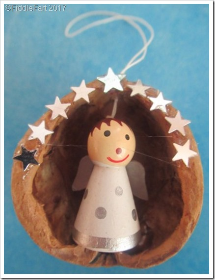walnut shell ornaments Christmas Angel