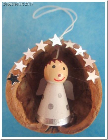 walnut shell ornaments Christmas Angel