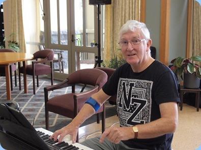 President, Gordon Sutherland, playing his new Korg Pa4X. Photo Courtesy of Dennis Lyons.