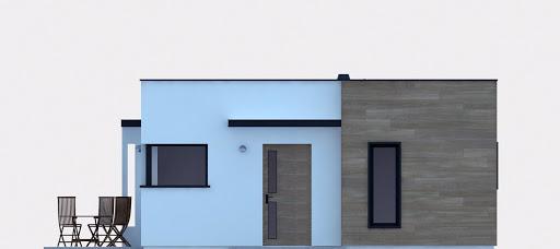 G254 - Budynek rekreacji indywidualnej - Elewacja przednia