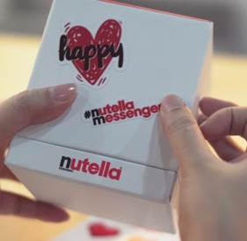 SEND A SPECIAL SHOUT-OUT TO A LOVED ONE VIA #NUTELLAMESSENGER 2