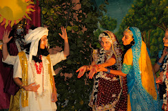 Janmastami evening lila (theatre) with Madhuri as Krishna and Anupama as Radhika