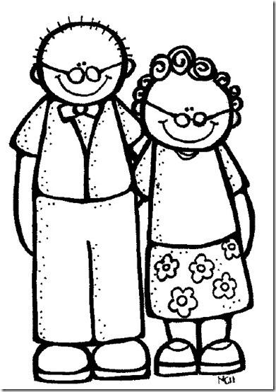 dibujos para colorear Abuelos | Colorear dibujos infantiles