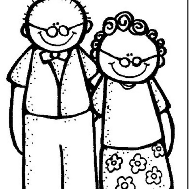 dibujos para colorear Abuelos