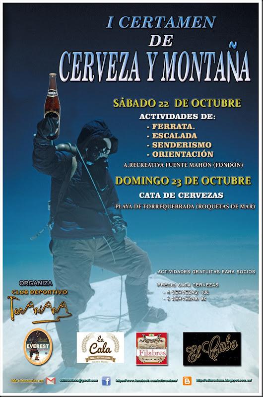 Cartel I Certamen de Cerveza y Montaña