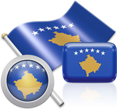 Kosovar flag icons pictures collection