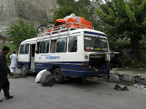 Flat Tyre on KKH