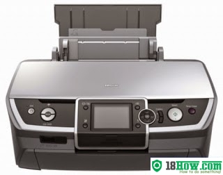 How to reset flashing lights for Epson R360 printer